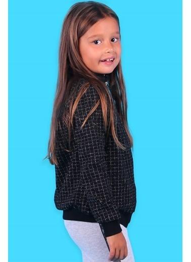 Breeze Kız Çocuk Hırka Kurdele Nakışlı Siyah (6-12 Yaş) Siyah